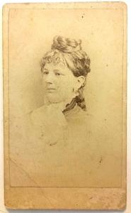 1870's Mame Vanderlyn CDV Photo, Poughkeepsie, Dutchess County NY