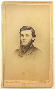 1860's John Jeffers CDV Photo of Lyndon, Whiteside County, Illinois