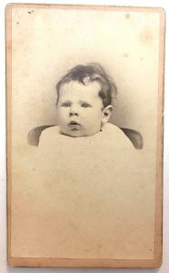 1884 Harriet Hill Baby CDV Photo by Photographer Jonathan Allen NYC NY