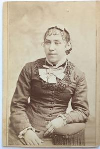 1880's Etta Wells signed CDV Photo, Clinton, Rock County, Wisconsin