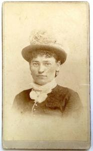 1870's Mrs. David Greer CDV Photo, Potsdam, Saint Lawrence County NY