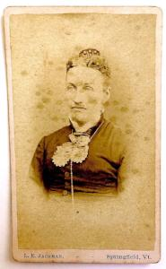 1870's Lestina Lockwood Herrick Photo, Springfield, Windsor County VT