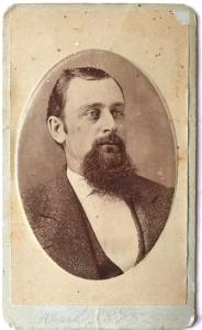 1875 John H. Scott signed CDV Photo, Wichita, Sedgwick County, Kansas