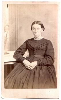 1860's Minerva Peck Gilson CDV Photo, Ludlow, Windsor County, Vermont
