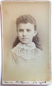 1883 Lena Peters Photo, Brooklyn German Family Watchmaker Henry Peters