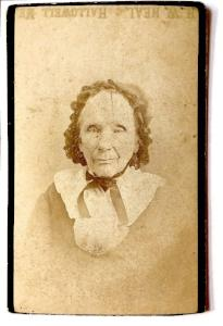 1880's Mrs. Kennedy, Eunice Allen's Grandma CDV Photo, Hallowell Maine
