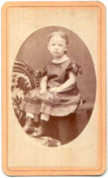 1870's Ida Crosby Lovell CDV Photo, Greenfield, Franklin County MA