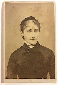 1870's Julia Barrows Rogerson CDV Photo, Bristol County Massachusetts