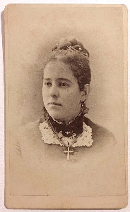 1878 Sadie Hopkins signed CDV Photo, St. Louis County, Missouri MO