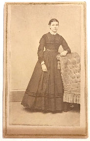 1860's Fidelia M. Walker CDV Photo, Glens Falls, Warren County, NY