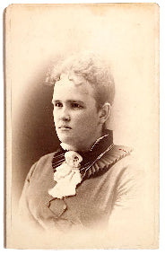 1870's Julia A. Wiley Snow CDV Photo, Cooleyville, Franklin County MA