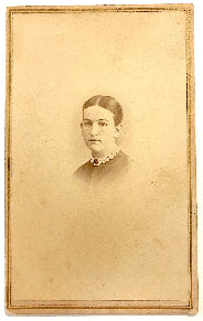 1860's Harriet Worchester CDV Photo, Nashua, Hillsborough County NH