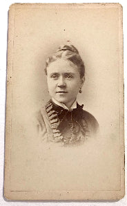1878 May J. Wallace signed CDV Photo, Sorority Bookkeeper, Boston Mass