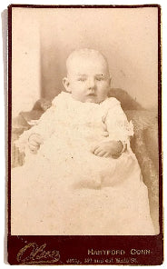 1883 Albert W. Waters Signed baby Photo, Hartford, Connecticut CT