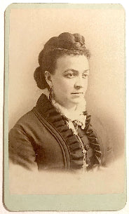 1870's Alice Bradley Family signed CDV Photo, Worcester County, MASS