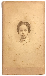 1860's Nattie Biddle Civil War era CDV Photo, Lynn, Essex County MA