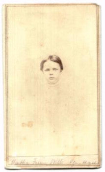 1860's Martha Freme Wells CDV Photo, MA & IL (Alfred Pennington Wells)