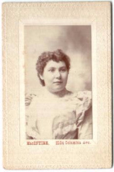 1890 Carrie Gessler Photo, Philadelphia, daughter of Antonia Gessler