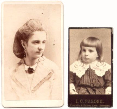 1870-90's 2 Frederick & Francenia Alexander CDV Photos, Brooklyn NY