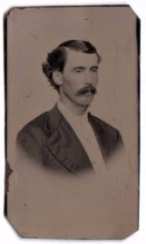 1870-80's Nathan Doolittle Original Old Tintype Photo, Found in CT