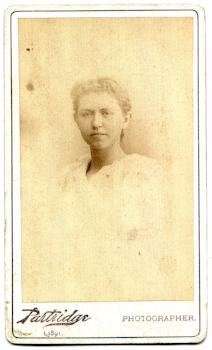 1893 Fanny Haskins Boltwood signed CDV Photo, New Haven CT & Boston MA