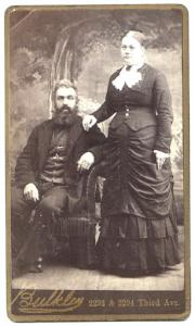 1870's Willard Geer & Mary Morey Geer CDV Photo, Berkshire County MA