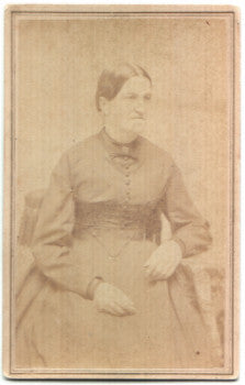 1860's Sarah Stickney Call CDV Photo, Wife of Reuben Call, Vermont