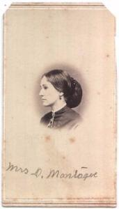 1866 Elizabeth Hosack Montague CDV Photo, Fredericktown Knox County OH