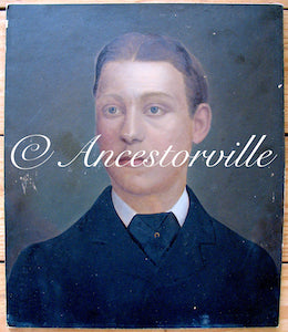 1884 George Winders Oil Portrait, Bromsgrove, Worcestershire, England