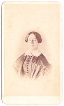 1856 Lucinda Stone CDV Photo, Newfane VT, daughter of Dr. Nathan Stone