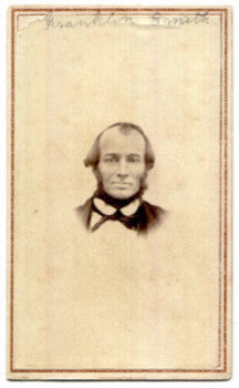 1860's Franklin Smith ID'd CDV Photo, Cooperstown, Otsego County NY