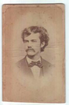 1870's George Armes CDV Photo, husband of Clara Felton, Southbridge MA