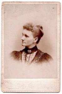 1894 Dr. Sylvina Apphia Emery Abbott signed Cabinet Photo, Taunton MA