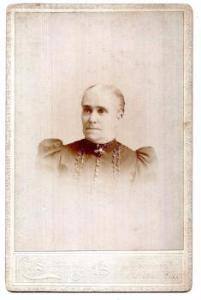 1890's Elizabeth Graves Wortman Abbott Hall Cabinet Photo, Taunton MA