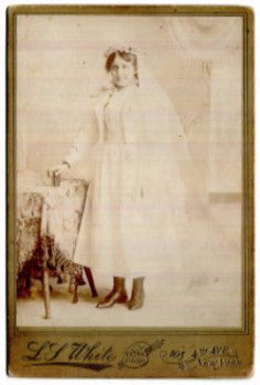 1890's Jennie Brizzolari (Brezzolara) Cabinet Card Photo, New York