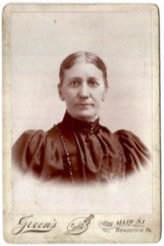 1890 Mrs. Brickholder Cabinet Photo, Braddock, Allegheny County PA
