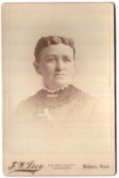 1890 Emma Susan Moulton Cabinet Photo, wife A. Curtis Blood, Woburn MA