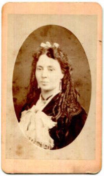1870 Mrs. M. Jacobson CDV Photo: Jacob Shew San Francisco Photographer