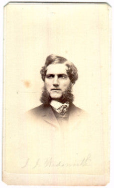 1860 J.J. Wadsworth Civil War CDV Photo, Chicago, Cook County Illinois