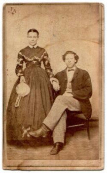 1865 William Cortright 161st NY & wife Anna Civil War era CDV Photo