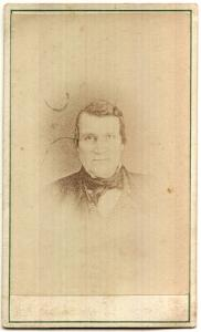 1860's Col. John Baker Smith CDV Photo, 16th NH Militia, Concord NH