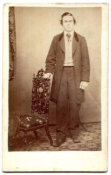 1860's Amos Knight Silloway CDV Photo, Newburyport MA (Amos Silloway)