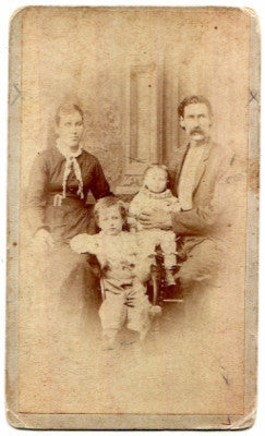 1870 Charles, Annie & Anna McMillan Family ID'd Genealogy CDV Photo - Ancestorville