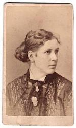 1870's Kate Upson Swift signed CDV Photo, Hartford, Connecticut