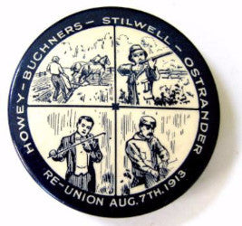 1913 Howey Buchners Stilwell Ostrander Family Reunion Pinback Button