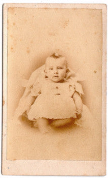 1860's Alice Cropper Farrell's Baby CDV Photo, Indianapolis Indiana IN