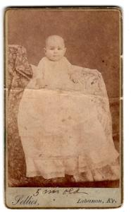 1885 Dr. Charles Harrison McChord CDV Photo, Lebanon, Marion County KY