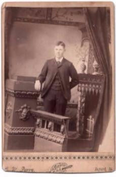 1880's Clifford Ocheltree Cabinet Card Photo, Guthrie County, Iowa