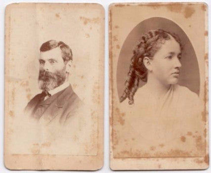 1870's Susan & Albert Sweetser CDV Photos, Boston, Essex County MA