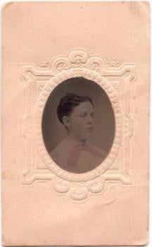 1860's Jeannette Mead Lent Tintype, Peekskill, Westchester County, NY